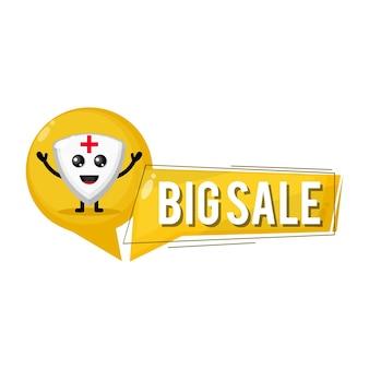 Shield big sale cute character mascot