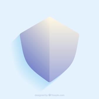 Shield in blue tones