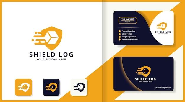 방패 상자 로고 및 명함 디자인