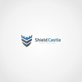 Shield castle logo