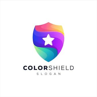 シールドカラーグラデーションロゴデザイン