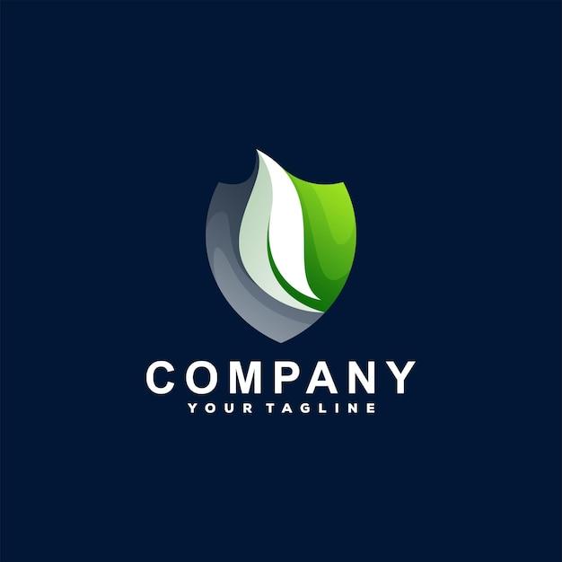 Shield color gradient logo template