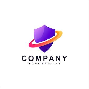 Логотип градиента цвета щита
