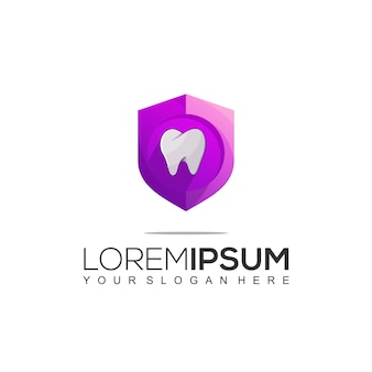 Shield dental logo design template