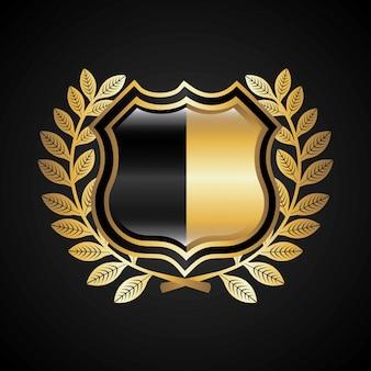 Дизайн щита на черном фоне