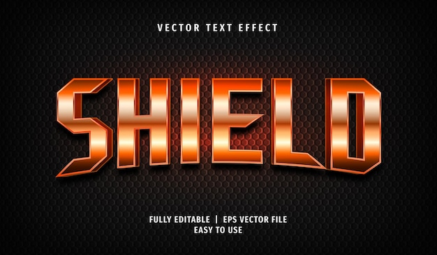 Shield editable text effect style