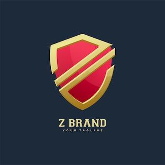 Shield emblem letter z logo