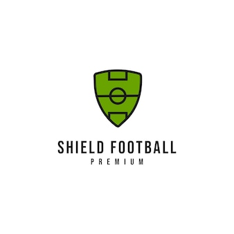Shield football logo