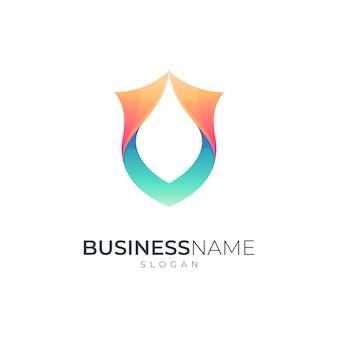 Shield frame simple logo template