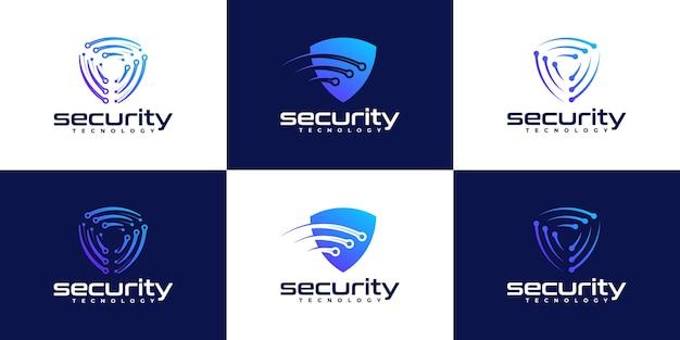 Щит значок дизайн логотипа вдохновение
