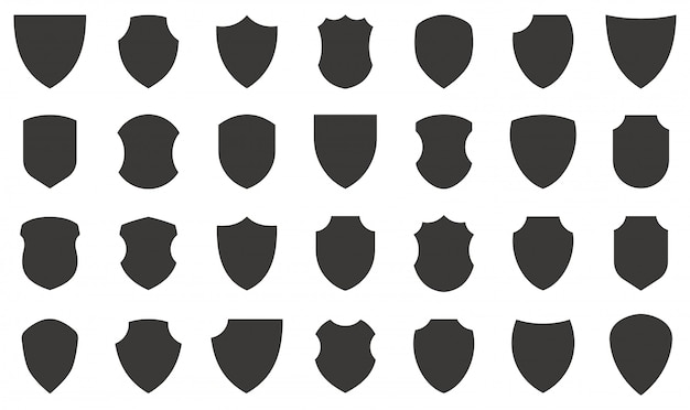 Shield icons collection.