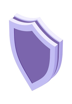 Shield isometric icon isolated vector illustration, protection and safety symbol