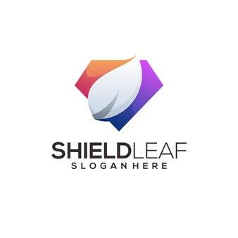 Shield leaf logo template