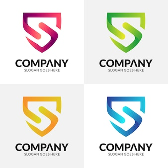 Shield letter s logo design