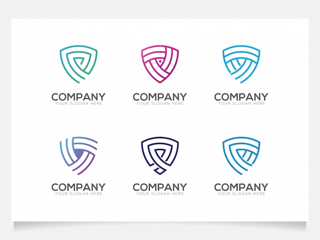 Shield logo collections for company or agency