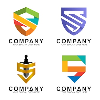 Shield logo design collection
