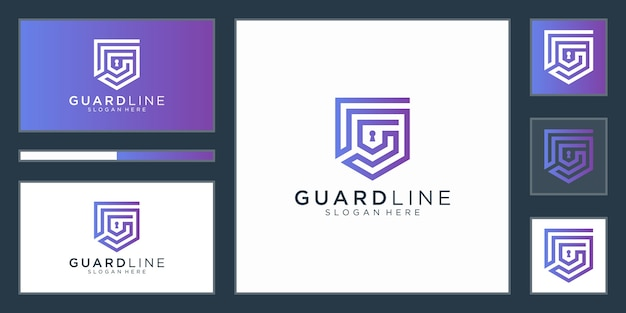 Shield logo design template.