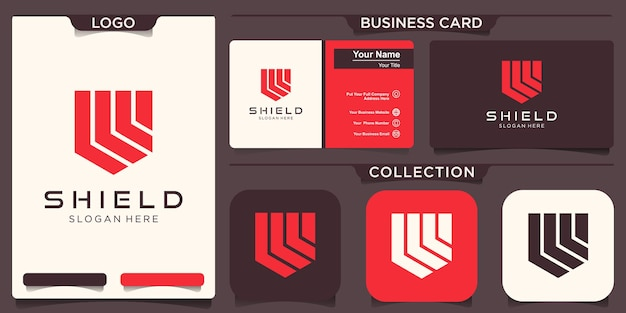 Shield logo icon vector, sign and symbol for design.