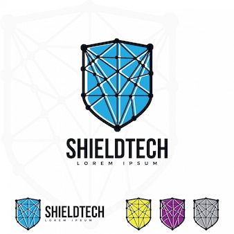 Shield logo illustration.