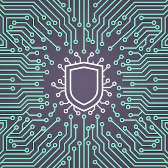 Баннер-концепция системы защиты данных shield network
