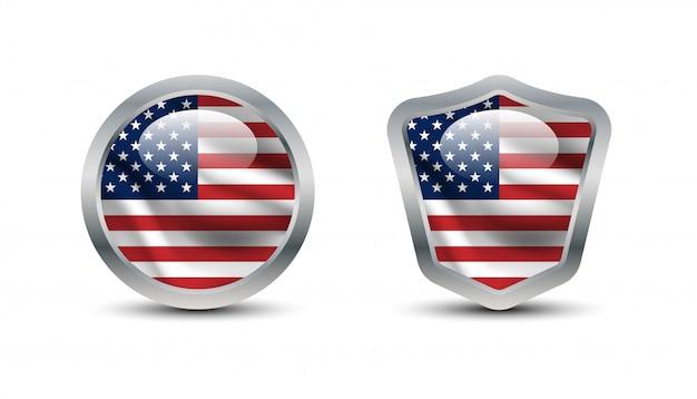 アメリカ合衆国の盾テンプレート。