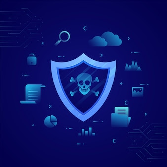 Shield polygonal,business concept of data security and protection concept.