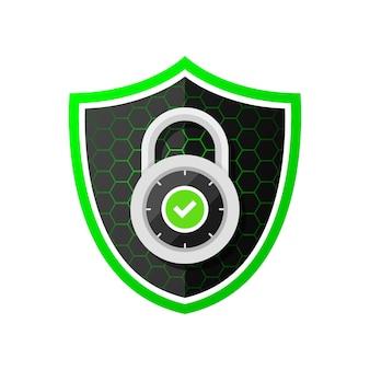 Shield protection padlock guard access