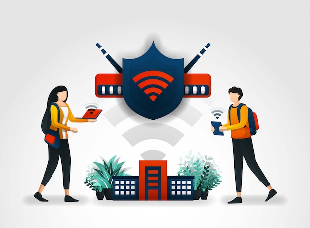 Shield protects students access through wifi
