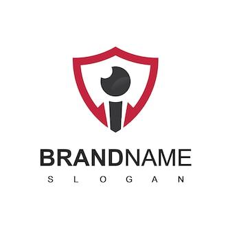 Shield secure logo template