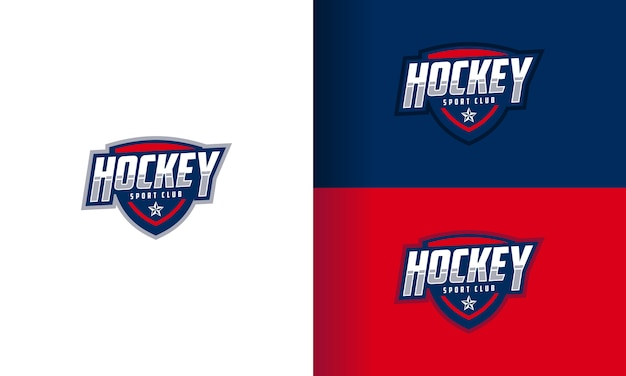 Shield sport logo design set