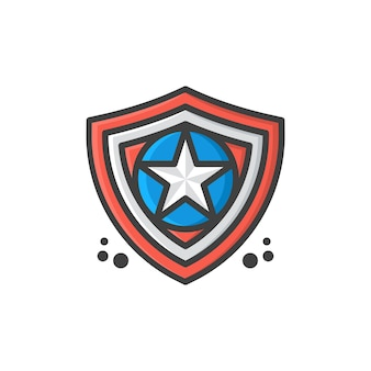 Shield star logo template vector illustration