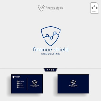 Shield stats business logo template