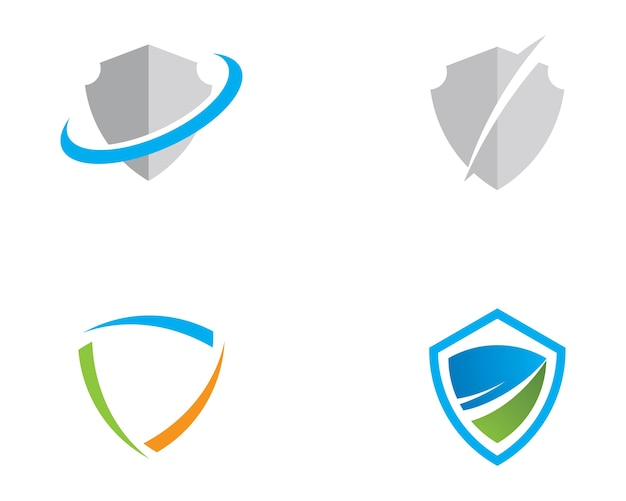 Shield symbol logo template
