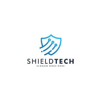 シールド技術のロゴデザイン