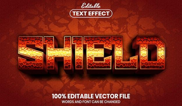 Текст щита, редактируемый текстовый эффект