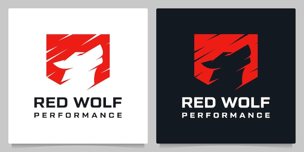 Shield and wolf howling roar security company logo design