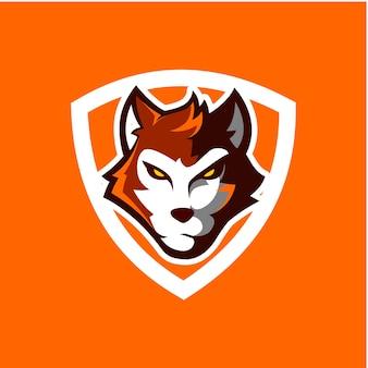 Shield wolf icon