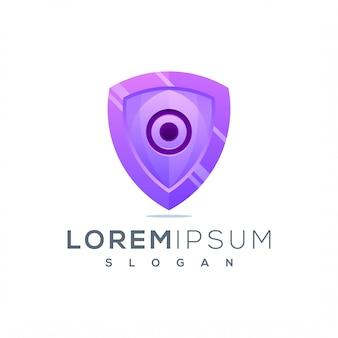 Shield дизайн логотипа готов к использованию