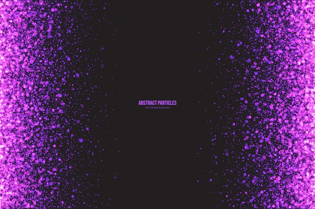 Shimmer purple particles abstract vector background