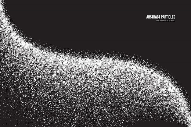 Светящиеся частицы белого фона shimmer