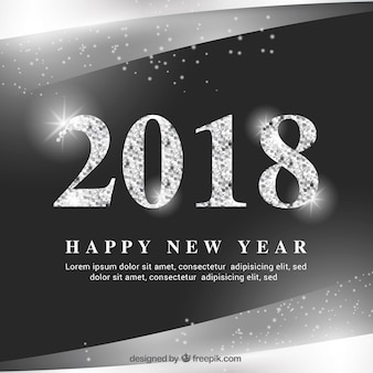 Shimmering black and silver new year background