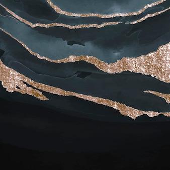 きらめく濃い青の水彩画の背景