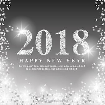 Shimmering silver new year background