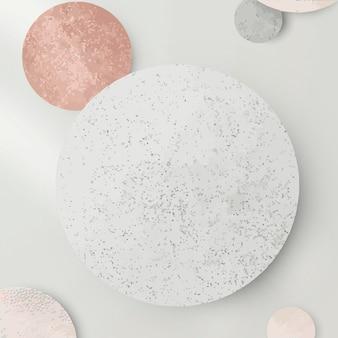 Vettore di sfondo con motivo rotondo argento e rosa scintillante