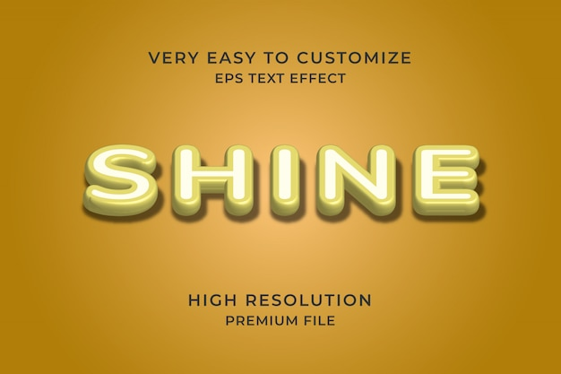 Shine 3d text effect