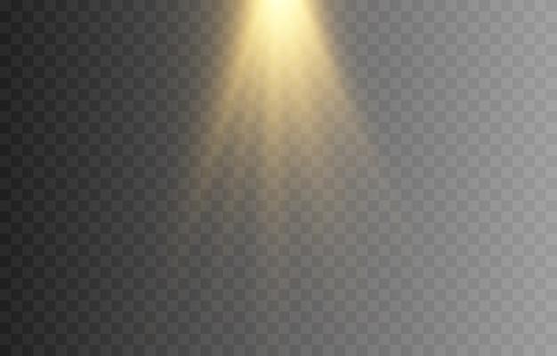 광택. 황금빛 섬광. 태양의 불빛. 골드 스타, 빛나다. 태양, 새벽. 라이트 png.