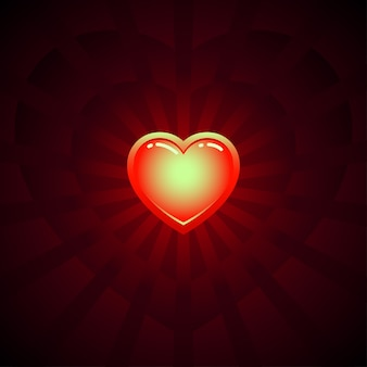 Shine heart vector image