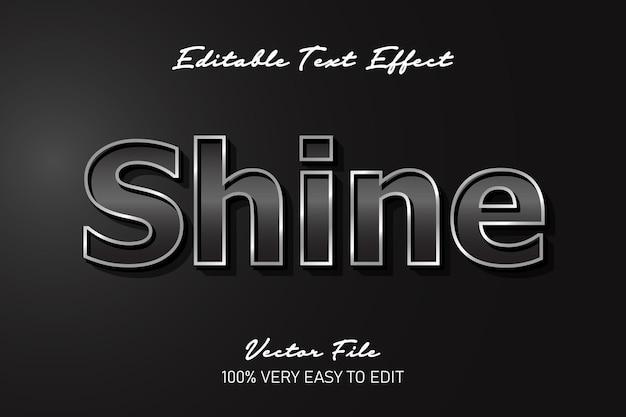 Shine metal glossy text effect