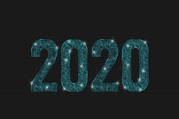 Shine number 2020 on dark