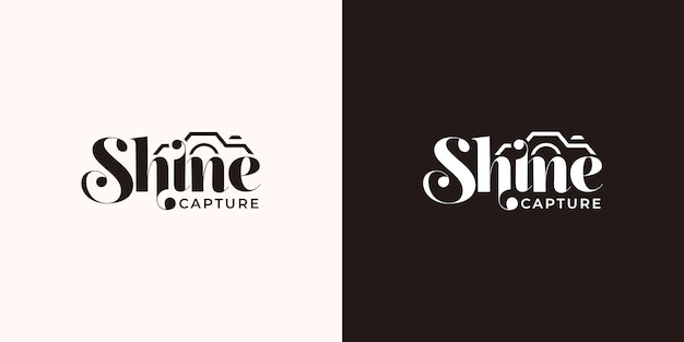 Shine typography logo design template